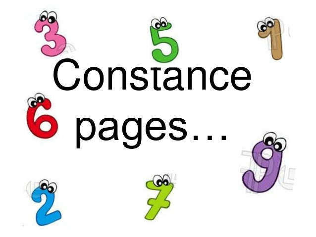 Constance pages…