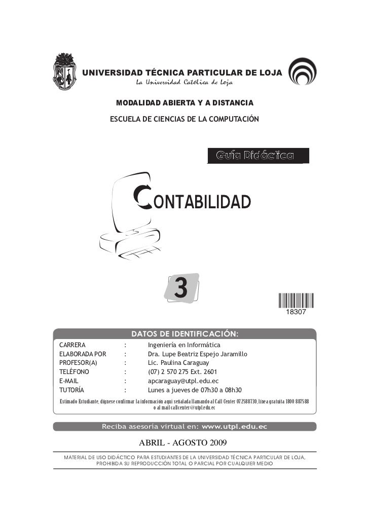 UNIVERSIDAD TÉCNICA PARTICULAR DE LOJA                                        La Universidad Católica de Loja             ...