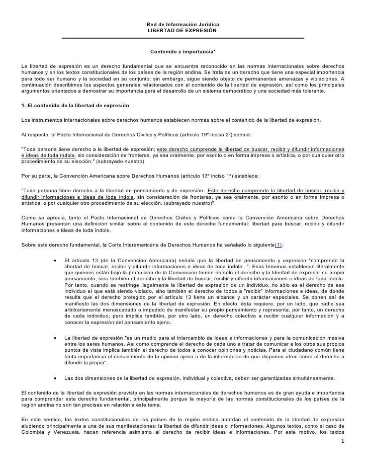 Red de Información Jurídica                                                      LIBERTAD DE EXPRESIÓN                    ...