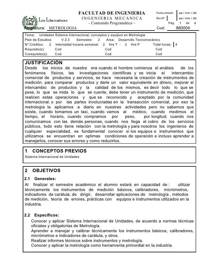 FACULTAD DE INGENIERIA                      Fecha emisión     aa / mm / dd                                     INGENIERIA ...