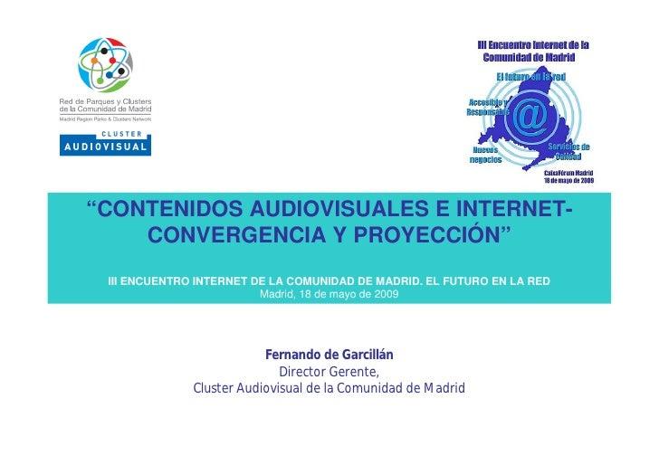 Contenidos Audiovisuales E Internet...