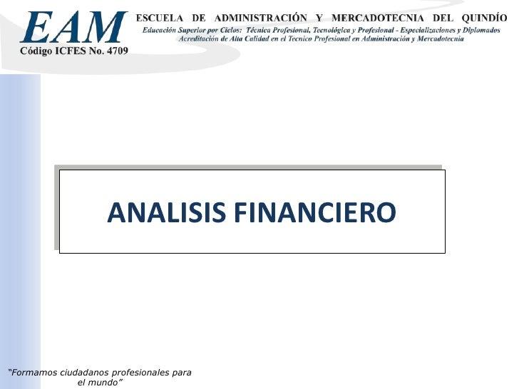ANALISIS FINANCIERO <br />