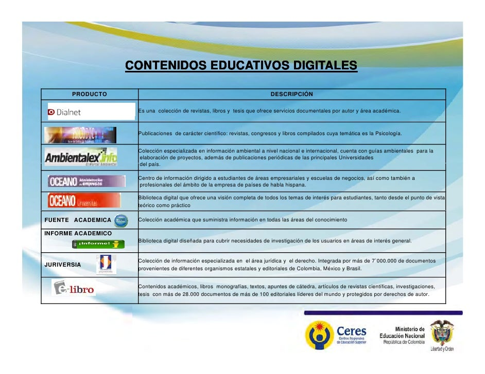 Bibliotecas Digitales en Colombia Aprende