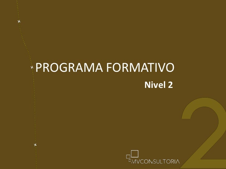 PROGRAMA FORMATIVO<br />Nivel 2<br />