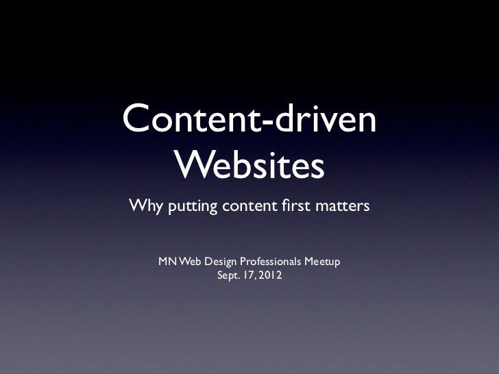 Content-driven Websites: Why putting content first matters