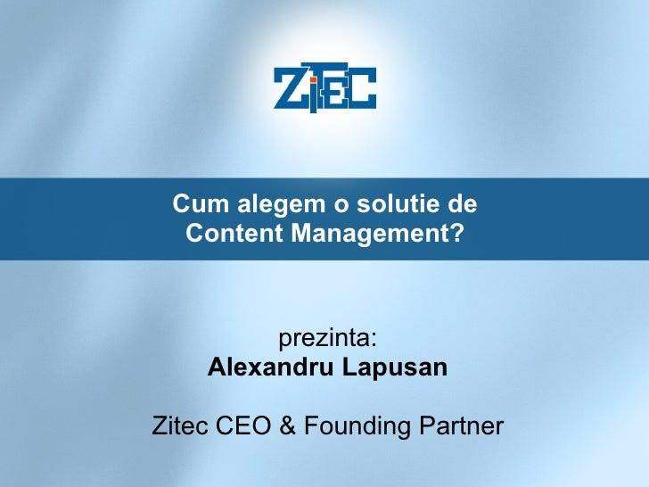 Content Management - Alexandru Lapusan