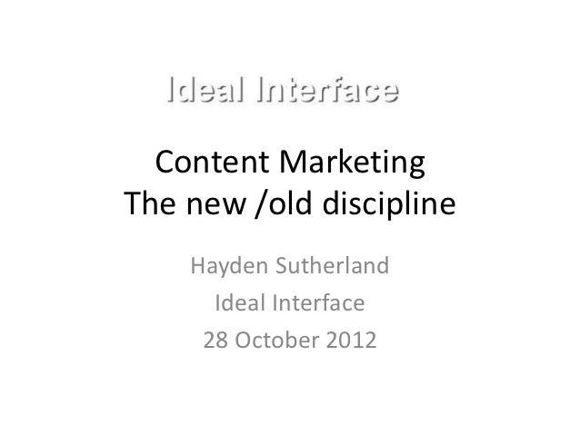 Content marketing optimisation