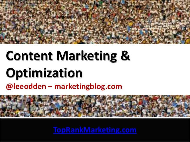 Content Marketing Optimization - TopRank Marketing