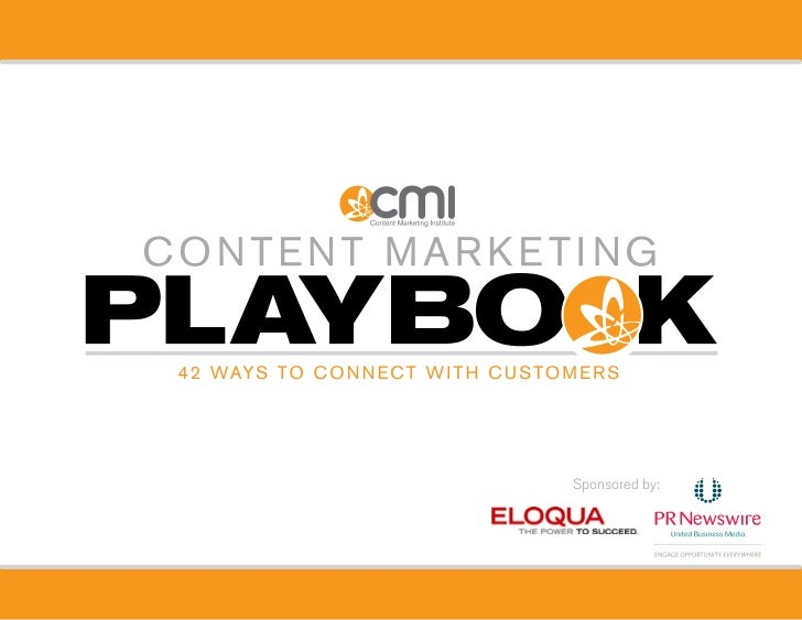 Content Marketing Playbook 2011