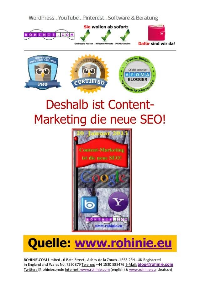 Deshalb ist Content-Marketing die neue SEO!