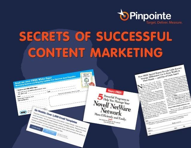 Secrets of Successful Content Marketing