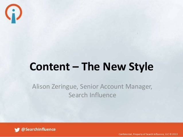 Content Optimization - The New Style