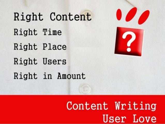 Right Content Right Time Right Place Right Users Right in Amount