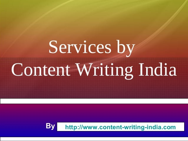 Services for Content Writing
