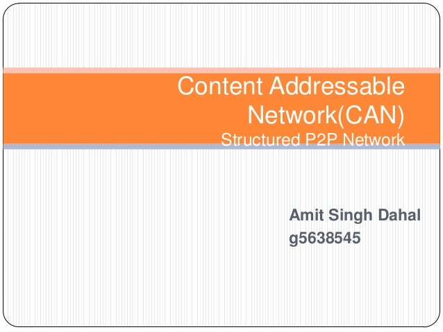 Content addressable network(can)