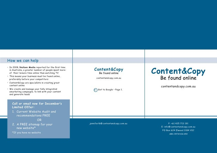 Content  And Copy Brochure28 11 09