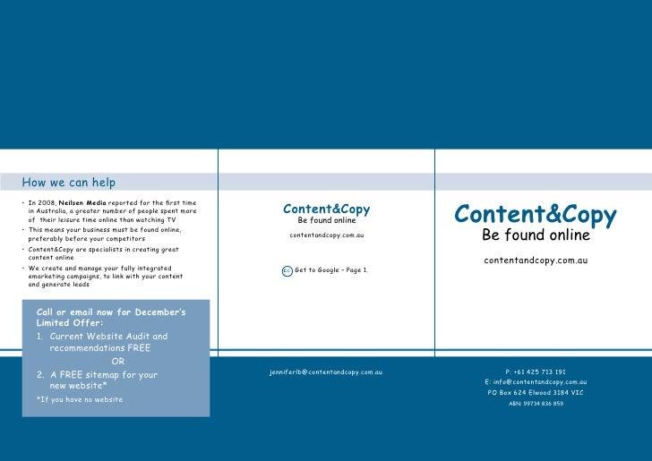 Content  And Copy Brochure28 11 09