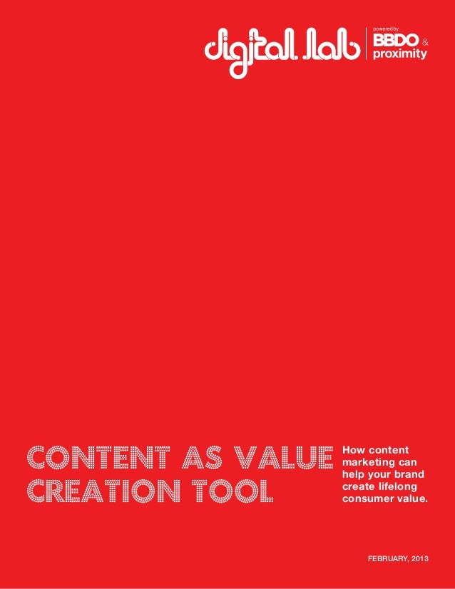 Content as Value Creation Tool