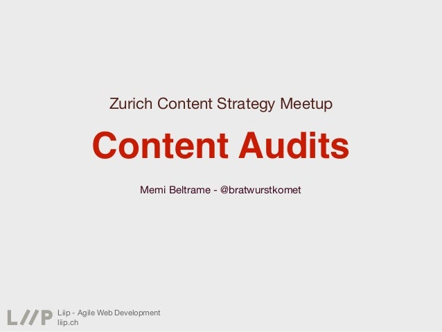 Content Audits