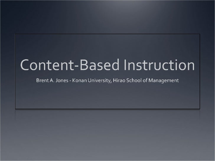 Content-Based Instruction - THT 2012 in Kyrgyzstan