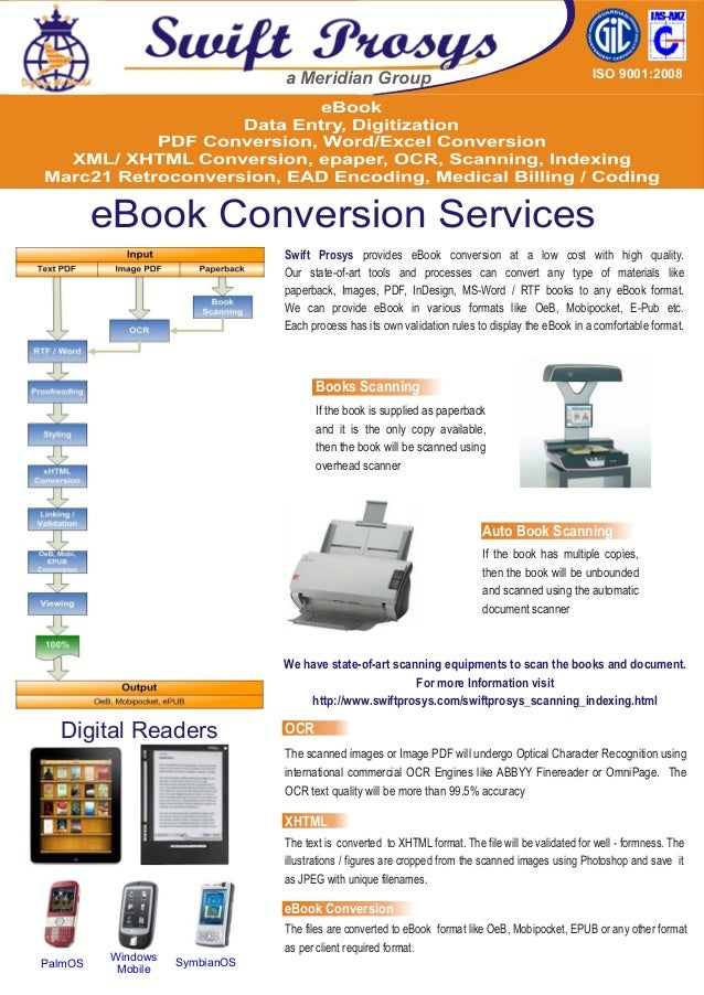 eBook Data Entry, Digitization PDF Conversion, Word/Excel Conversion XML/ XHTML Conversion, epaper, OCR, Scanning, Indexin...
