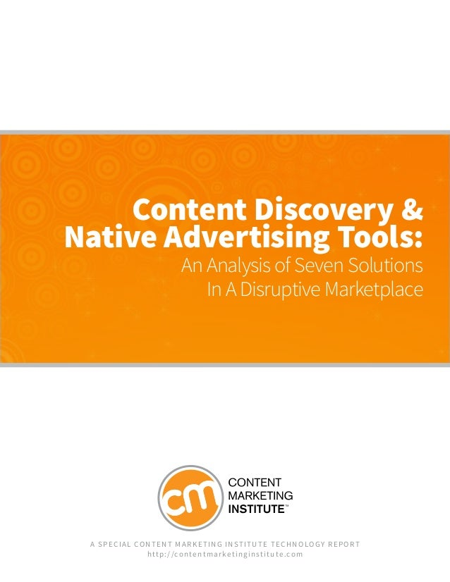 Content Discovery and Native Advertising tools - Technology Report