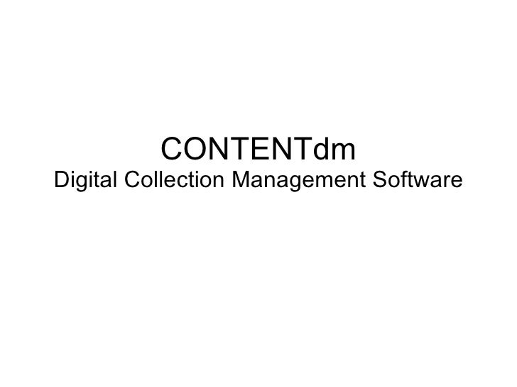 CONTENTdm Digital Collection Management Software