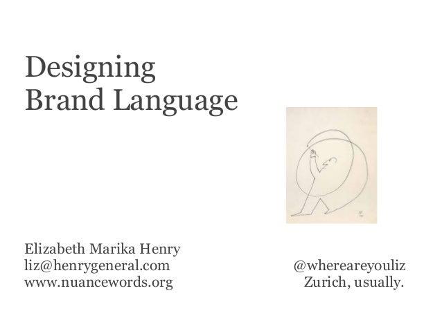 Designing Brand Language