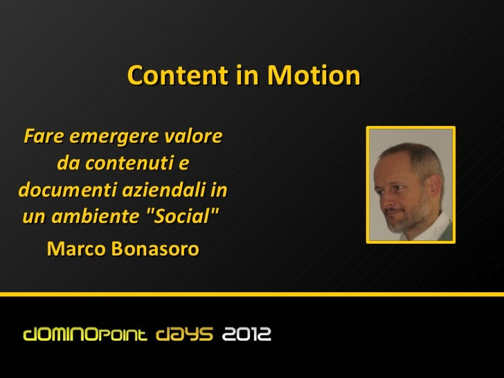 #dd12 Content in motion