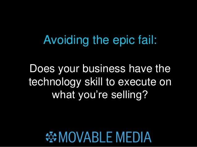 Avoiding the Epic (Content) Fail