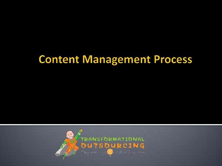 Content management process