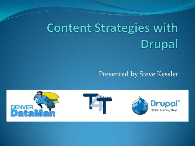 Content Strategies with Drupal
