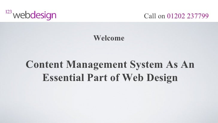 Content Management System As An Essential Part of Web Design