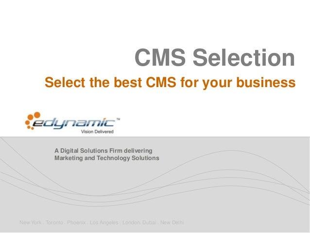 Content Management System Selection Best Practices