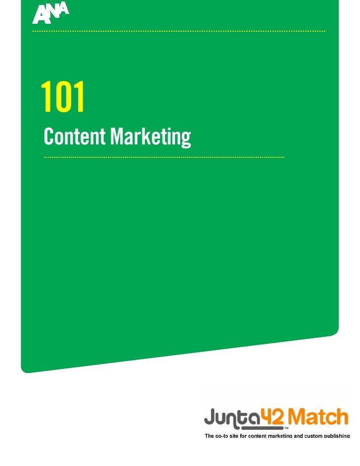 101 Content Marketing