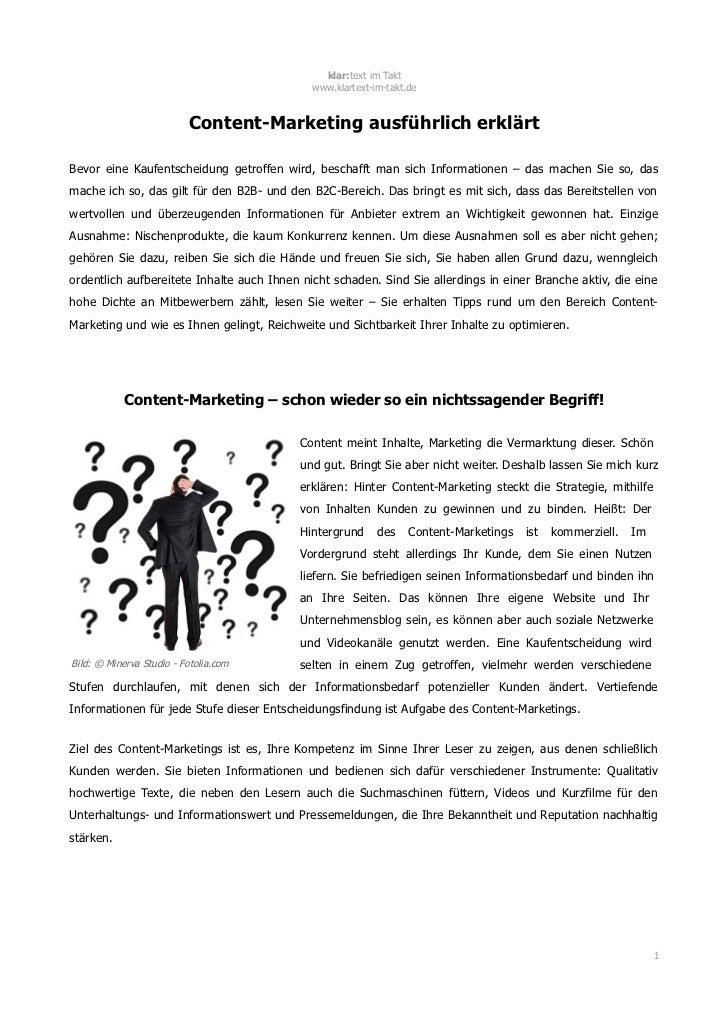 klar:text im Takt                                             www.klartext-im-takt.de                          Content-Mar...