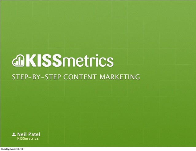 Step-By-Step Content Marketing
