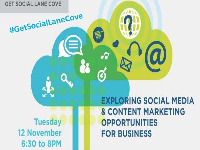 Content Marketing presentation at #GetSocialLaneCove