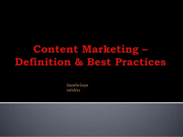 Content Marketing - Definition and Best Practices