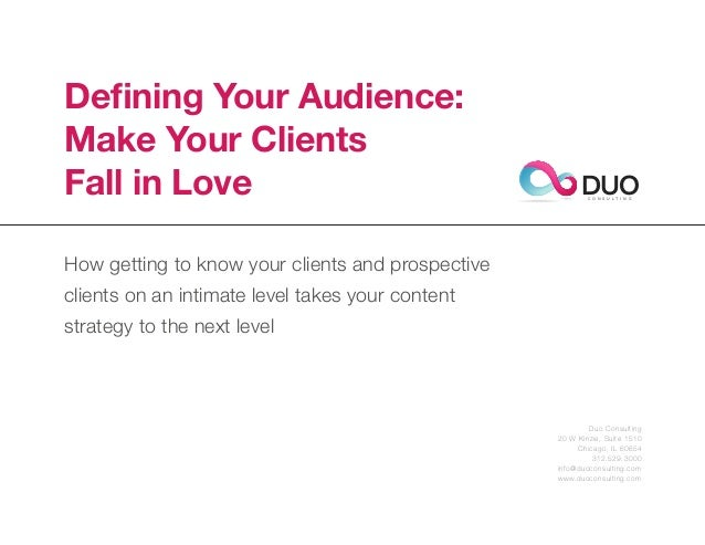 Defining Your Audience: Make Your Clients Fall in Love