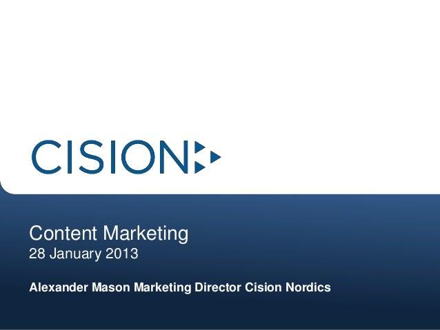 Content marketing finland