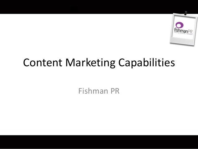 Content Marketing Capabilities Fishman PR