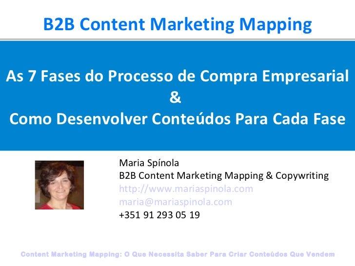 Content Marketing Mapping: Desenvolver Conteudos Para Cada Uma das 7 Fases do Processo de Compra Empresarial  - Maria Spinola
