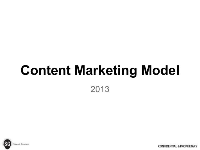 Content Marketing Model2013
