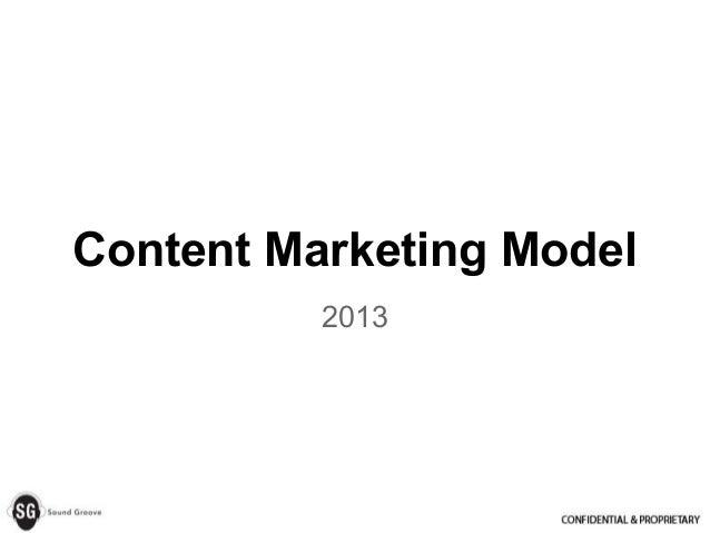 Content Marketing Model 2013