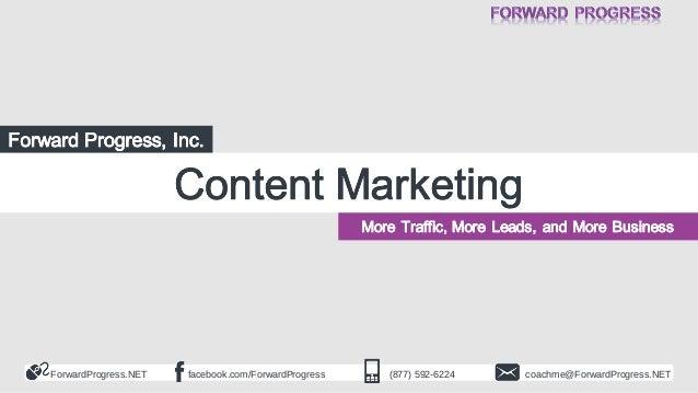 ForwardProgress.NET  facebook.com/ForwardProgress  (877) 592-6224  coachme@ForwardProgress.NET
