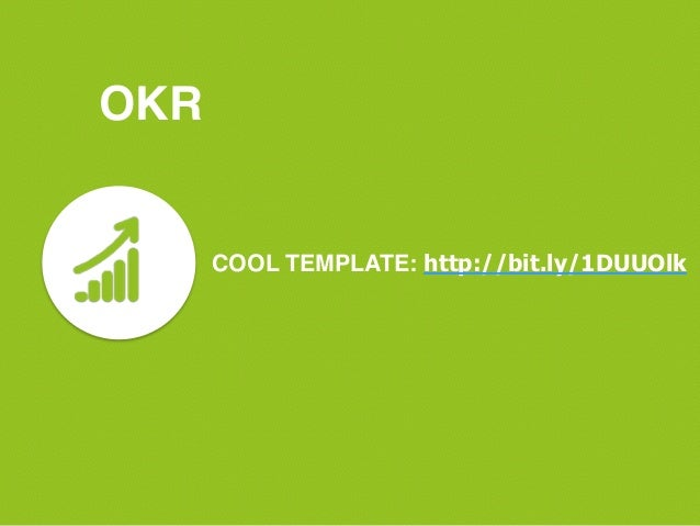 Content marketing okrs for Google okr template