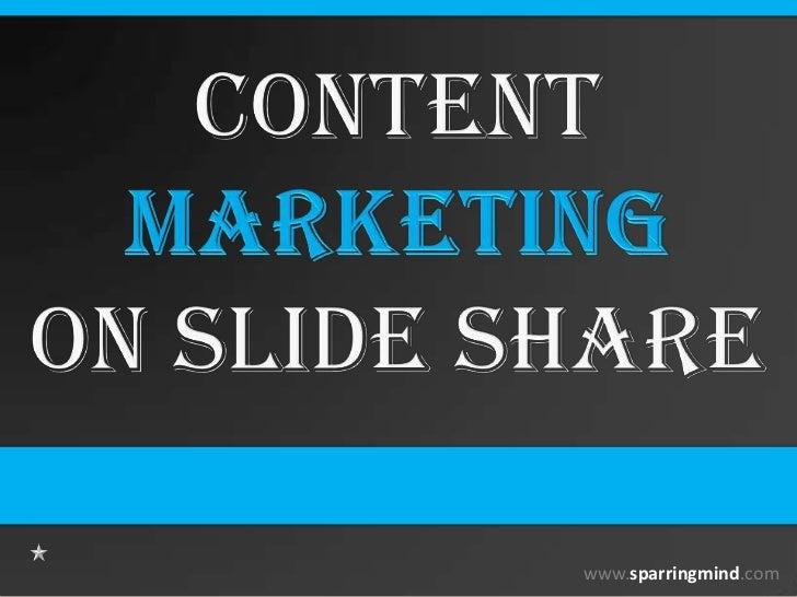 Content Marketing on SlideShare