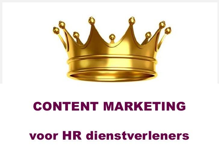 Content marketing & social media voor HR professionals