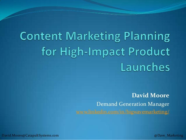 David Moore                                          Demand Generation Manager                                  www.linked...